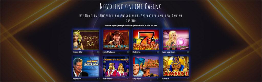 Novoline Slots im Casino Test